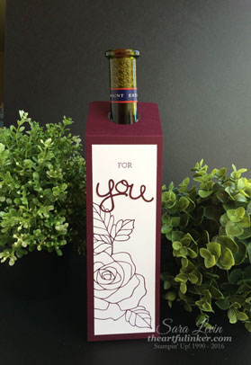 Rose Wonder CAS Wine Bottle Gift Tag from theartfulinker.com