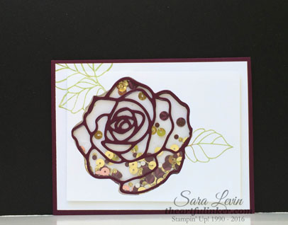 Rose Wonder Shaker Card from theartfulinker.com