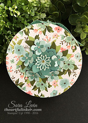 Botanical Builder upcycled gift box for OSAT blog hop from theartfulinker.com