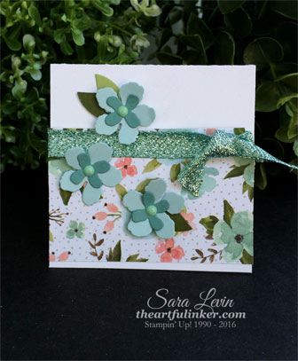 Botanical Builder Love Note for OSAT blog hop from theartfulinker.com