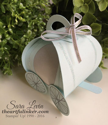 Cinderella Carriage Curvy Keepsake Box - front view - from theartfulinker.com