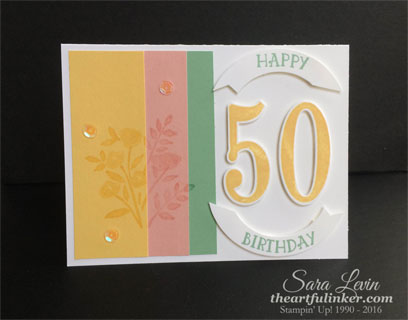 Number of Years 50th Birthday card for PPA293 and PP288 from theartfulinker.com