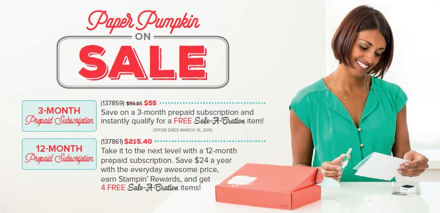 Paper Pumpkin Sale-A-Bration Sale from theartfulinker.com