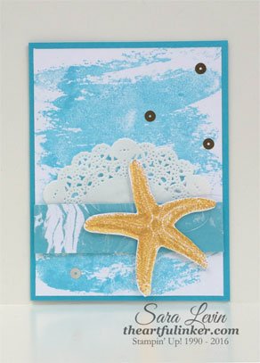 Picture Perfect starfish card from theartfulinker.com