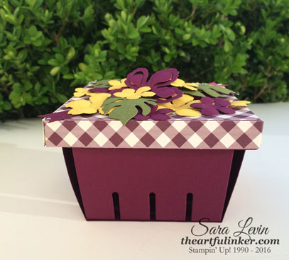 Berry Basket Box with Botanical Builder Framelits flowers from theartfulinker.com