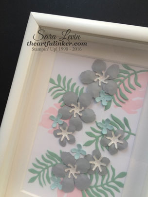 Botanical Builder decor shadowbox frame - detail - for Creation Station from theartfulinker.com