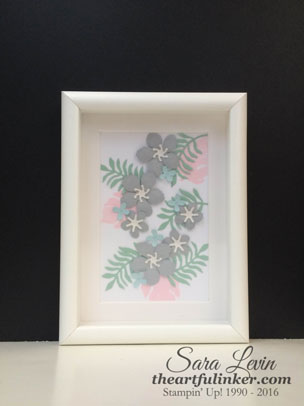 Botanical Builder shadowbox decor for Creation Station from theartfulinker.com