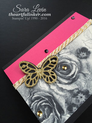 Timeless Elegance with a pop of Melon Mambo - butterfly detail - from theartfulinker.com
