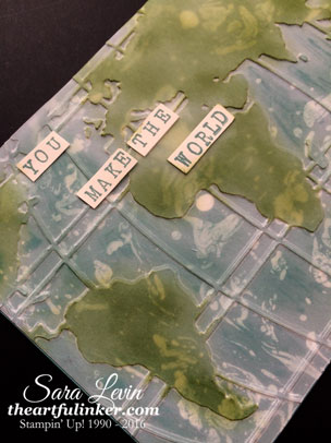 Going Placed - World Traveler card for Creation Station - detail - from theartfulinker.com