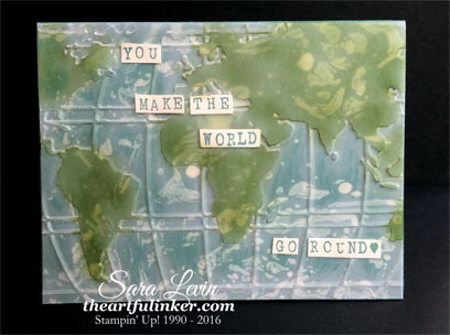 Going Places - World Traveler card for Creation Station from theartfulinker.com