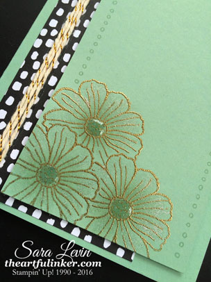 Helping Me Grow flower cluster card - detail - from theartfulinker.com