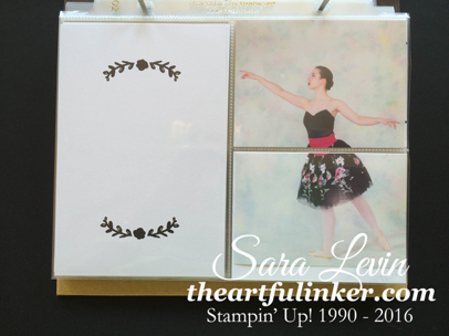 Moments Like These Dance Recital Project Life Album page - from theartfulinker.com