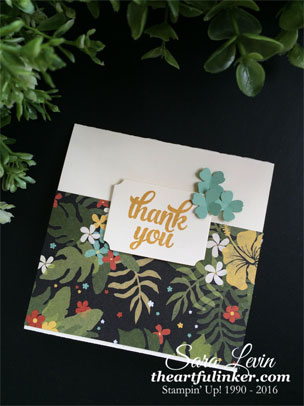 Tin of Cards Botanical Thank You