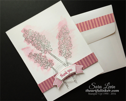 Helping Me Grow with Thoughtful Banners - envelope detail - from theartfulinker.com