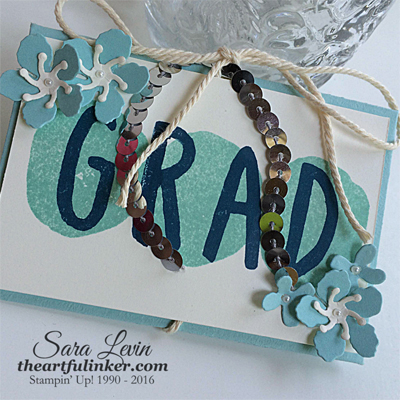 Layered Letters Gift Card Holder for graduation - angled view- from theartfulinker.com