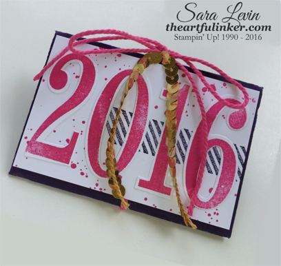 Number of Years Gift Card Holder for graduation - angled view - from theartfulinker.com