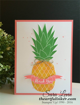 Pineapple Thank You for Creation Station - from theartfulinker.com
