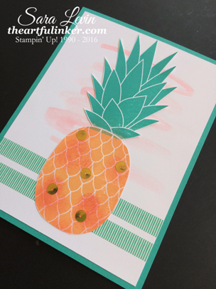 Pineapple - angled - from theartfulinker.com
