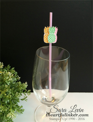 Pop of Paradise Party Straw from theartfulinker.com