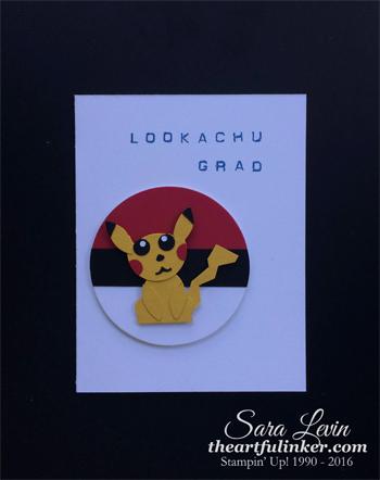 Fox Builder Pikachu graduation card from theartfulinker.com