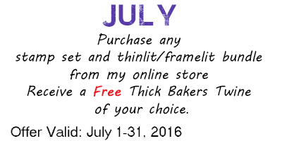 July 2016 Online Order Bonus - from theartfulinker.com