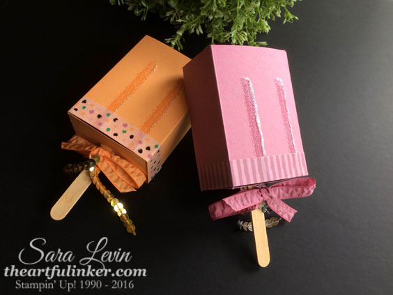 Popsicle Favor Boxes from theartfulinker.com