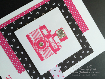 Pun Intended birthday card with Pop of Pink - detail - from theartfulinker.com