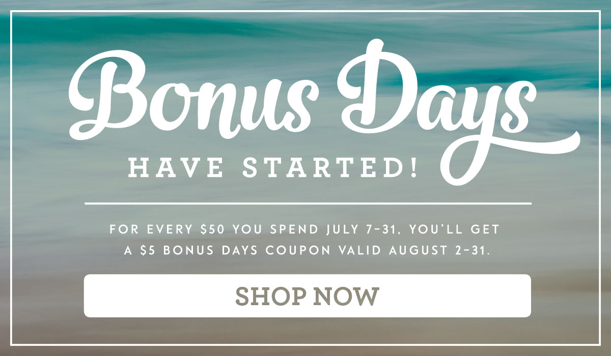Bonus Days Have Started - from theartfulinker.com