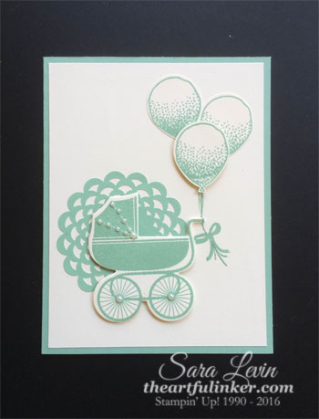 Something for Baby with Balloon Celebration - from theartfulinker.com