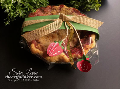 Strawberry Rhubarb Pie dressed up and ready for the dinner party host - from theartfulinker.com