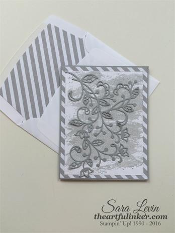 Flourish Thinlits Sympathy card in Smoky Slate - from theartfulinker.com