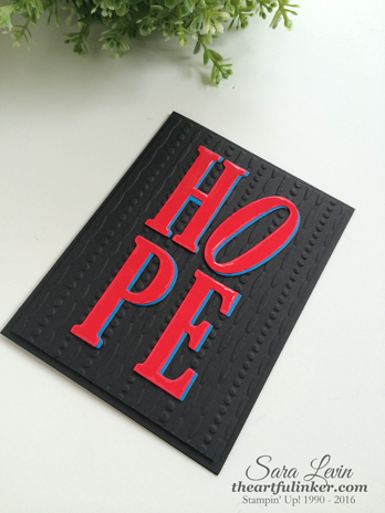 Hope card from theartfulinker.com inspired by Robert Indiana sculpture