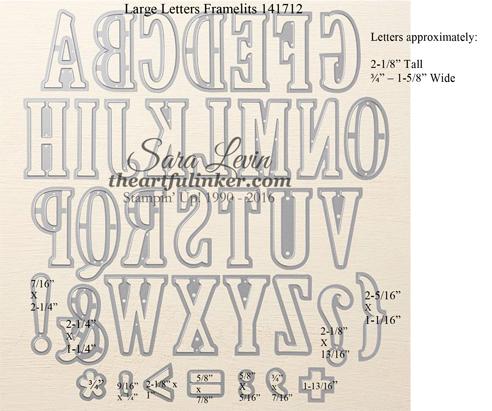 Large Letters Framelits #141712