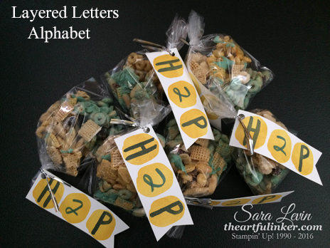 Layered Letters Alphabet treat bags from theartfulinker.com