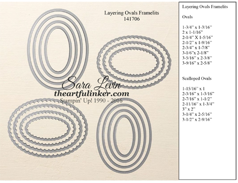 Layering Ovals Framelits #141706