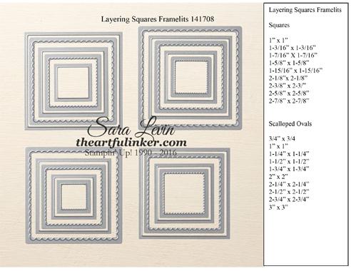 Layering Squares Framelits 141708