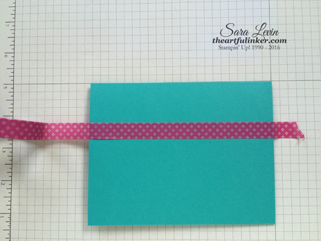 Lining up Washi Tape using Grid Paper - from theartfulinker.com