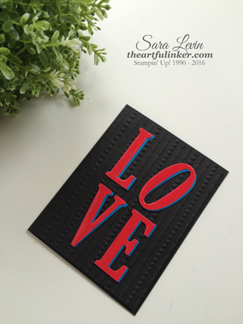 Love card from theartfulinker.com inspired by Robert Indiana sculpture