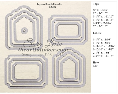 Tags and Labels Framelits #138282