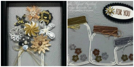 Floral Metallic Frame and Card