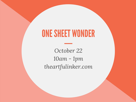 One Sheet Wonder Class from theartfulinker.com