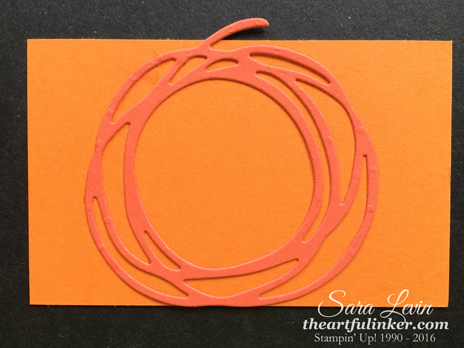 Making the front of the Pumpkin Treat Holder - from theartfulinker.com