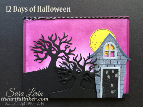 Sweet Home and Spooky Fun stepped up card for 12 Days of Halloween from theartfulinker.com