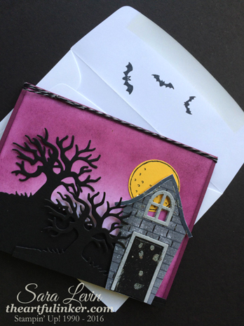 Sweet Home and Spooky Fun Halloween card with envelope for 12 Days of Halloween from theartfulinker.com