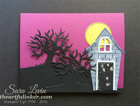 Sweet Home and Spooky Fun basic card for 12 Days of Halloween from theartfulinker.com