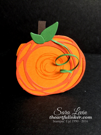 Swirly Scribbles Pumpkin Treat Holder - front - from theartfulinker.com