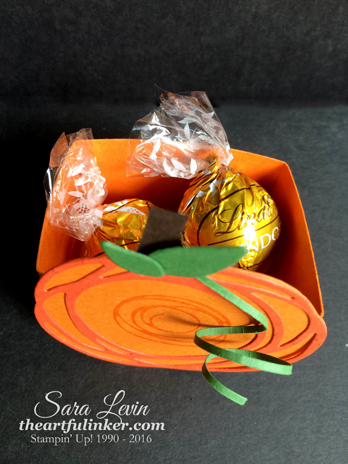 Swirly Scribbles Pumpkin Treat Holder - top view - from theartfulinker.com