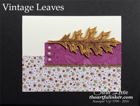 Vintage Leaves for TSOT287 from theartfulinker.com