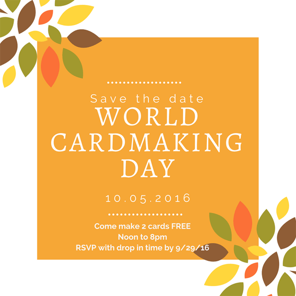 World Cardmaking Day - from theartfulinker.com