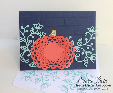 Flourish Pumpkin for OSAT Blog Hop from theartfulinker.com